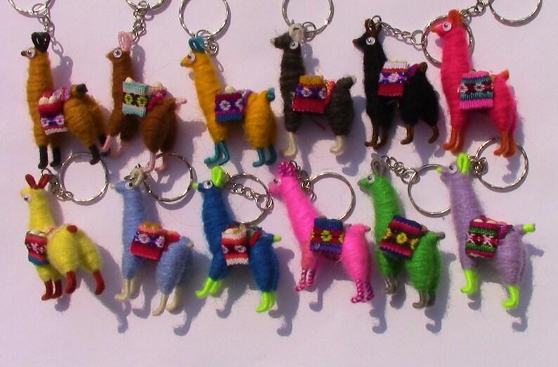 Llama Yarn Key Chain Sold By Unit Or Wholesale Handmade Etsy