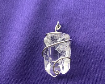 Mother-Child double crystal pendant