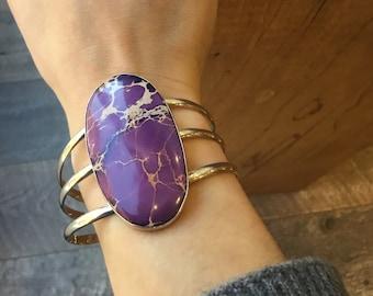 Purple Jasper Cuff Bracelet