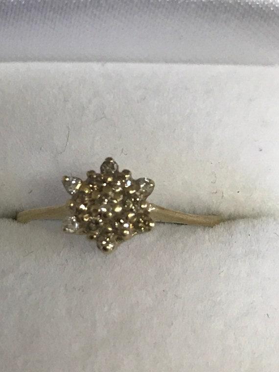 Champagne argyle diamond dress ring