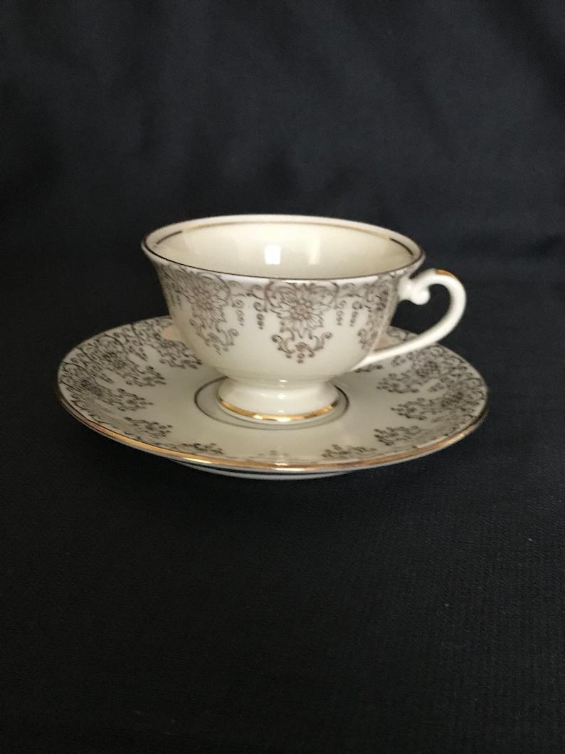 Vintage Alka Kunst Germany porcelain demitasse cup and saucer