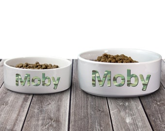 Made in USA Monogram Your Pet Dog or Cat Personalized Large Pet Placemat