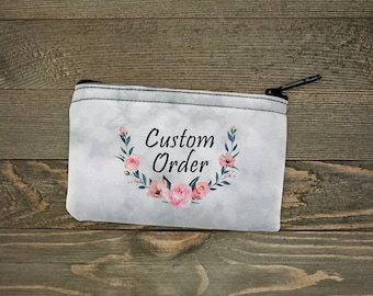 Personalized Coin Purse   Custom Bags   Custom Order