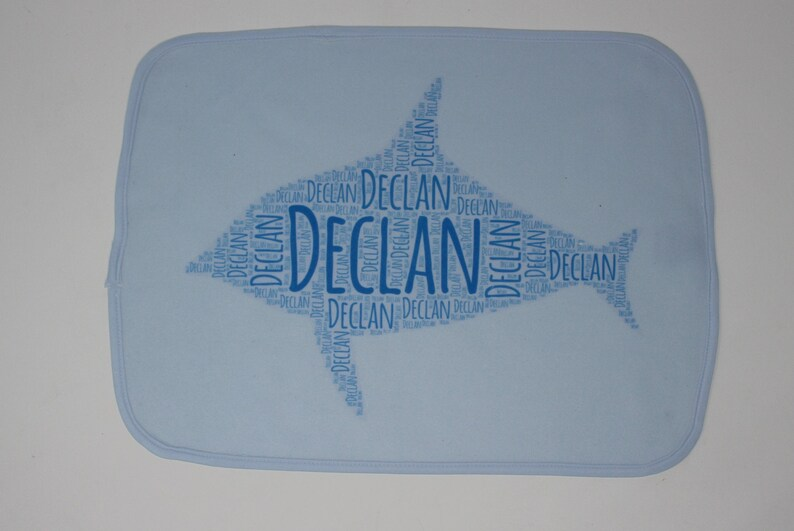Baby Shower Custom Baby Gifts Personalized Burp Cloth Fish