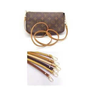 Crossbody Strap for Small Bags Pochette Mini NM Eva Damier Favorite PM MM Alma BB Brown Strap Width 1.2 + Screw