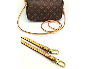 4d990aead7 Real Tanning vachetta leather strap replacement that will get Patina for  Louis Vuitton Pochette accessoires crossbody favorite pouch
