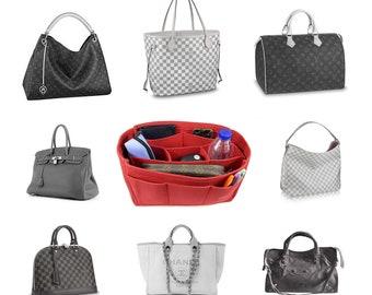 Nelliz Felt Bag Organiser cosmetic bag organizer purse insert diaper bag  for Louis vuitton cha.nel her.mes with detachable insert 3 colors 9d53752de8a94
