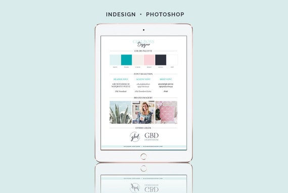 brand style guide indesign photoshop template