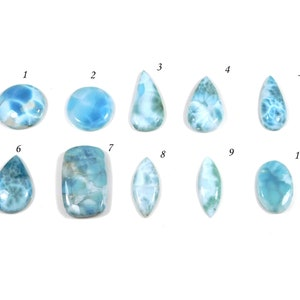 AAA Quality blue colour Larimar cabochon Round shape gemstone sizes 5x5 to15x15mm jewelry making stone high recommended stone Loose gemstone