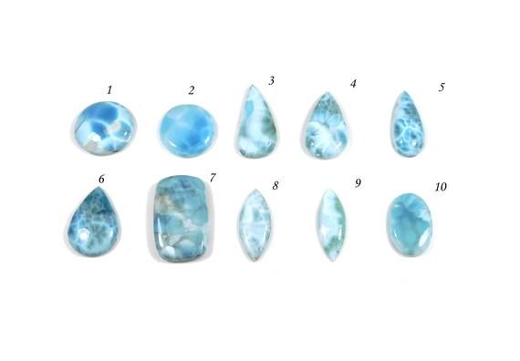 Barahona Larimar Gemstone 9Cts Size 18*9*5mm Ring Size Gemstone Green Blue Larimar Gemstone AAA Quality Fancy Shape Larimar Cabochon
