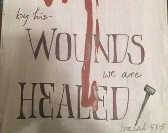 Isaiah 53:5 canvas