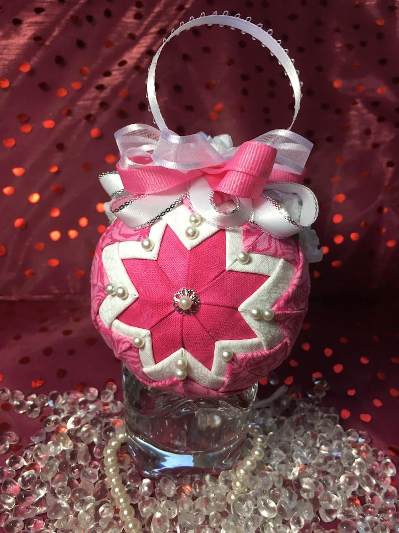Valentine\u2019s Hot Pink accent decor ornament