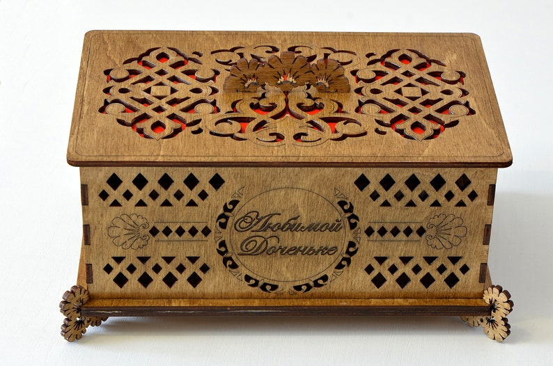 Wooden box with engraving for your jewelry