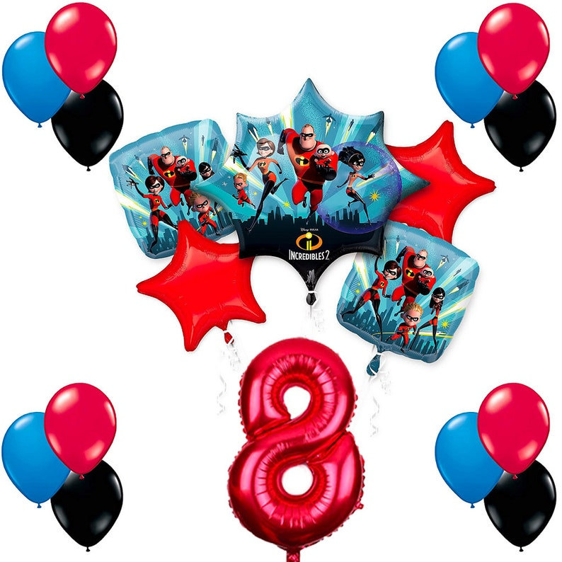 CuteTrees The Incredibles 2 Theme 8th Birthday Balloons Party