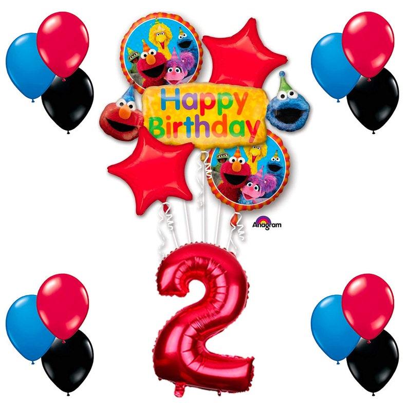CuteTrees Elmo Sesame Street Theme 2nd Birthday Balloons Party