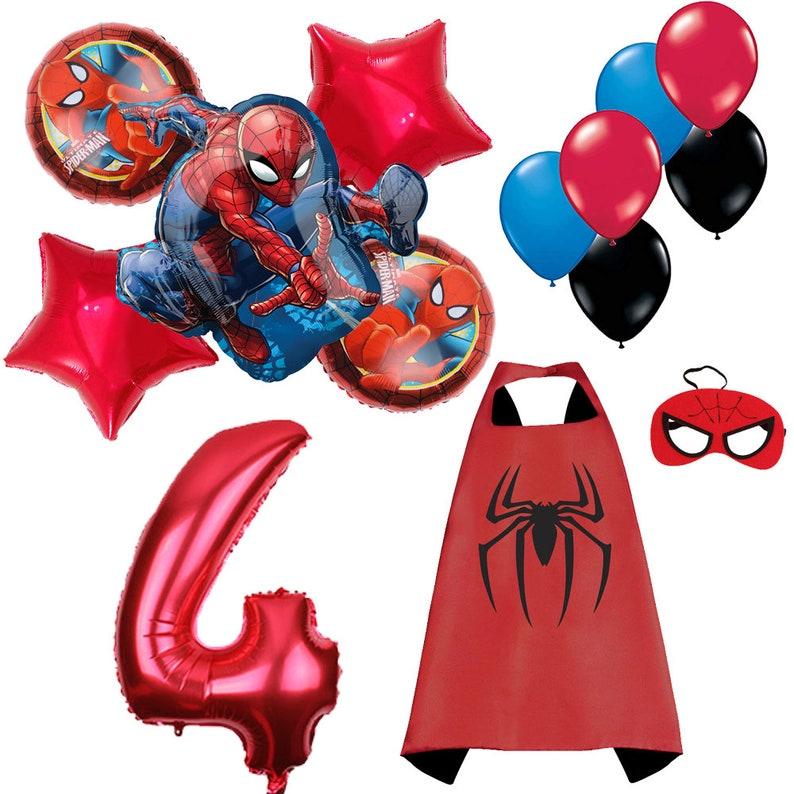 CuteTree Spiderman 4th Birthday Balloons Decoration