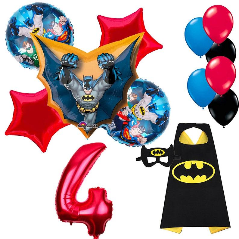 CuteTrees Super Hero Batman 4th Birthday Balloons And