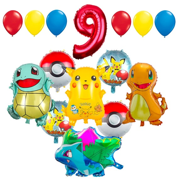 CuteTrees Pokemon Pikachu Theme 9th Birthday Balloons And