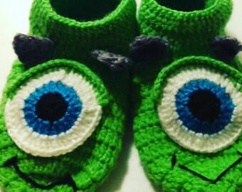 Monster S. A Crochet Booties