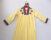 Sunrise Caftan // Embroidered Cotton Caftan // size Small