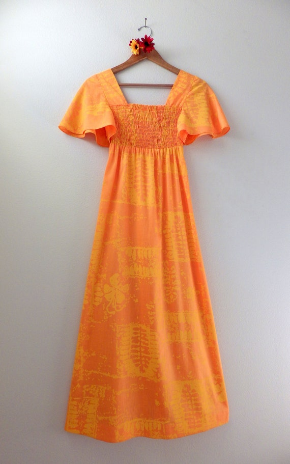Young Hawaii Maxi Dress // Vintage 1980's  // size