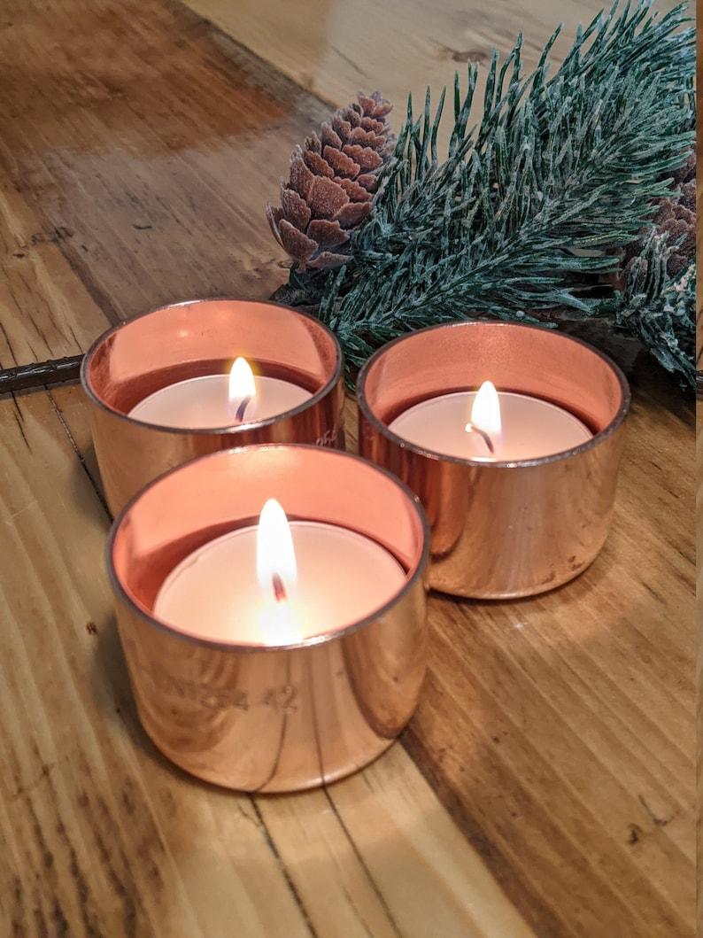 Copper Tea Light Holders Rose Gold UK Tea Light Holders image 0