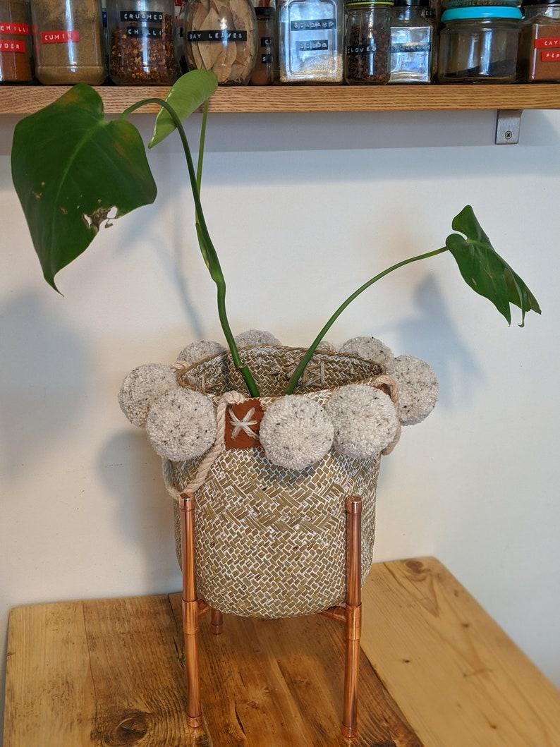 Modern planter copper plant stand copper indoor planter. image 0