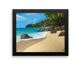 Framed poster,Tropical Beach,