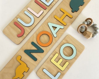 Personalized Toddler Toy - Wooden name puzzle - Children Puzzle - Gifts 1 Year Old Girl - 1st Birthday Baby Boy -  WoodilyToys