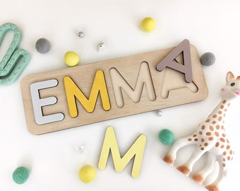 263e3e2d7 Personalized Montessori Toy Wood Name Puzzle Kids Gift One Two Three Year  Old Girl Toys for Toddlers Name Sign Decor Baby Easter Gift