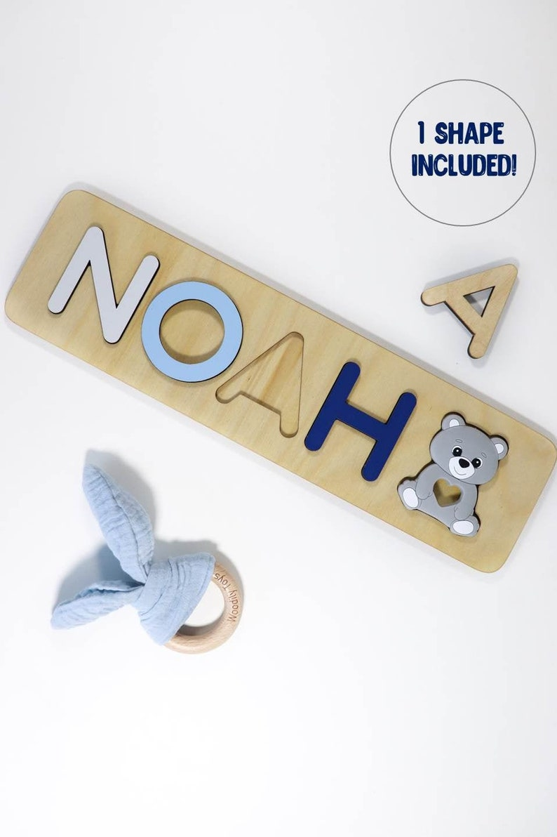 First Easter Baby Gift  Personalized toddler name puzzle  image 0