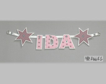 Personalized name chain, banners, wall decoration, pennant necklace