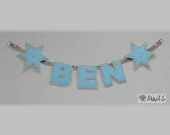 Name chain, banner, wall decoration, pennant necklace