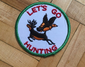 Hunting Is In My Blood Deer Hunter Iron On Sew On Embroidered Patch Badge Transfer Applique