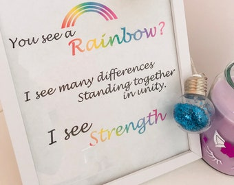 Rainbow of Unity - Quote Print - Instant Download