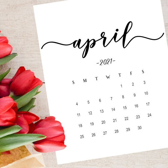 Calendrier Social Media 2021 Pregnancy announcement calendar April 2021 Social Media | Etsy