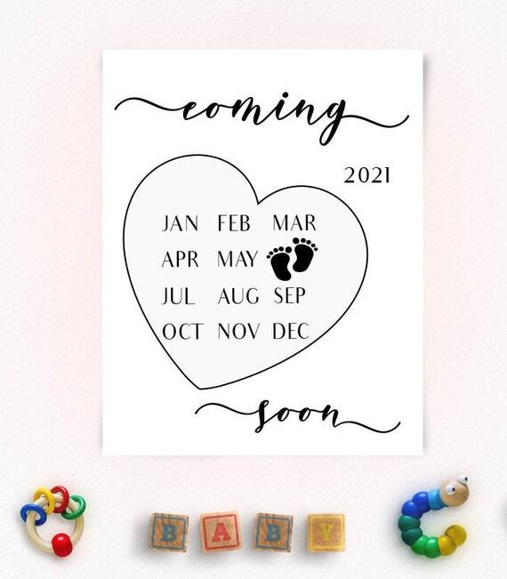 Calendario Capelli Giugno 2021 Giugno 2021 Calendario annuncio gravidanza giugno 2021   Etsy