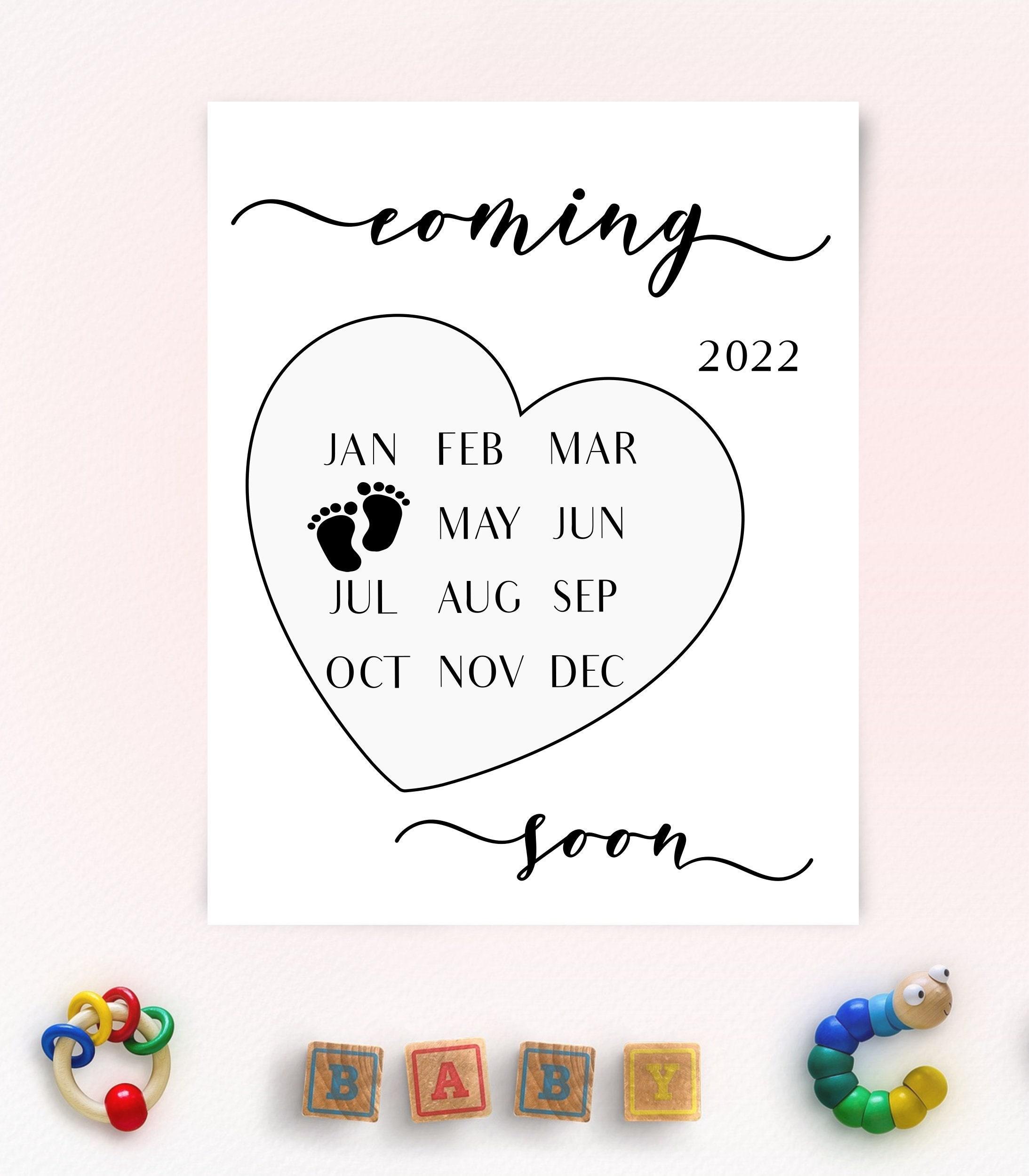 Calendrier Mcdo Avril 2022 Avril 2022 Calendrier dannonce de grossesse Avril 2022 | Etsy