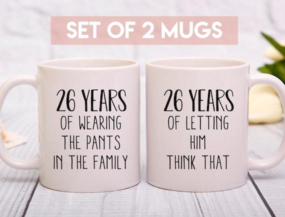 26th Anniversary Gift 26th Wedding Anniversary Mug 26 Years Etsy