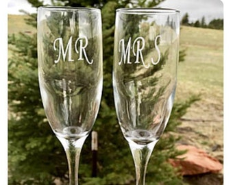 Engraved Champagne Flutes