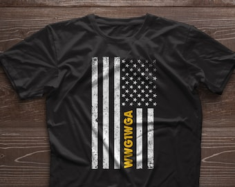 d158dbfd3 Q Anon WWG1WGA Patriotic Distressed Flag Tee Shirt Qanon, Unisex T-Shirt