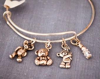 Teddy bear Bangle Bracelet