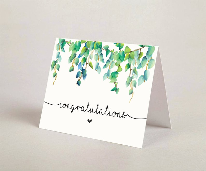 graphic about Printable Congratulations Card named Printable Congratulations Greeting Card, Printable Congratulations Card, Congratulations Greeting Card, DcrdA 02