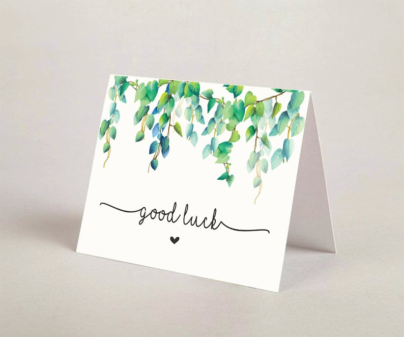 picture regarding Printable Good Luck Cards known as Printable Terrific Luck Greeting Card, Positive Luck Card, Encouragement Card, Terrific Luck Greeting Card, DcrdA 05