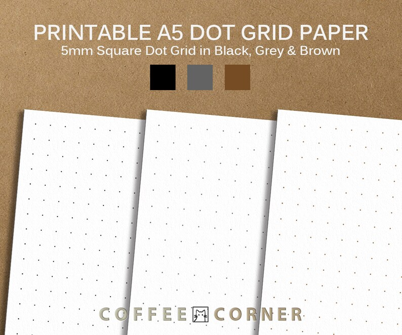 graphic relating to A5 Dot Grid Printable named Printable A5 Dot Grid Paper, Bullet Magazine Dot Grid Paper, A5 Dot Grid Paper, Calligraphy Dot Grid Paper, 5mm Sq. Dot Grid PAP004