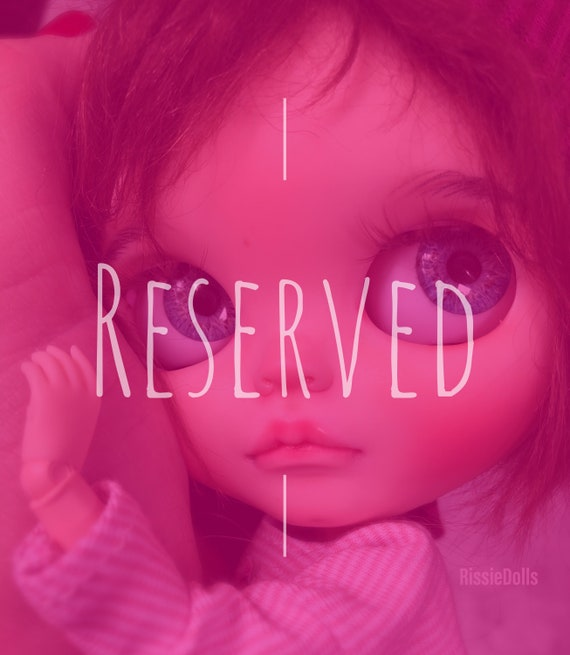 Customized ooak blythe doll by RissieDolls Factory/fake Blythe doll
