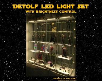 USB-LED-Licht Set für Ikea Detolf mit Helligkeit - warmen Farbton