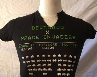 Deadmau5 x Space Invader Tee with NO SIDES