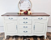 SOLD Drexel French Provincial solid wood buffet tv stand changing table sideboard antique vintage
