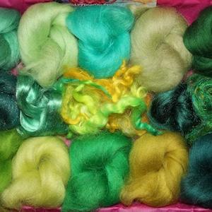 creative kit wool variety pack art fibre kit felting kit mini batts set DIY crafts Watermelon felting pack needle felting kit